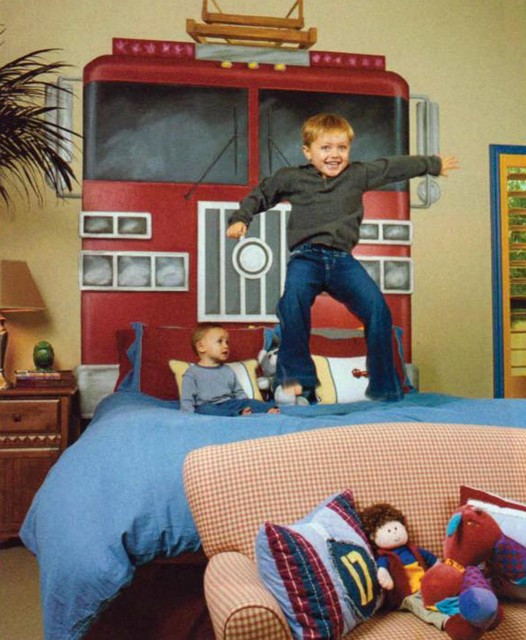 Firefighter Kids Room : Childs Fireman Bedroom - Transitional - Bedroom - other metro - by VM ...