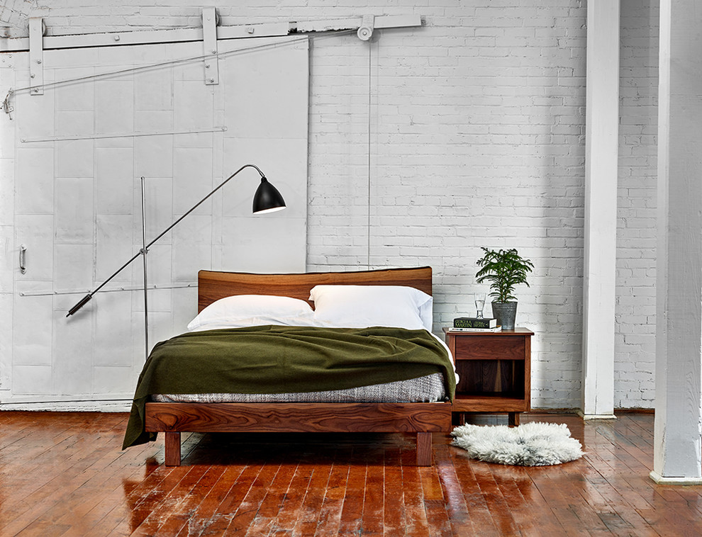 Inspiration for a scandinavian bedroom remodel in Portland Maine