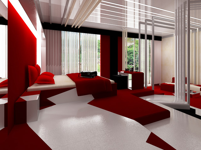 """""""China room"""" by Brani & Desi contemporary-bedroom"""
