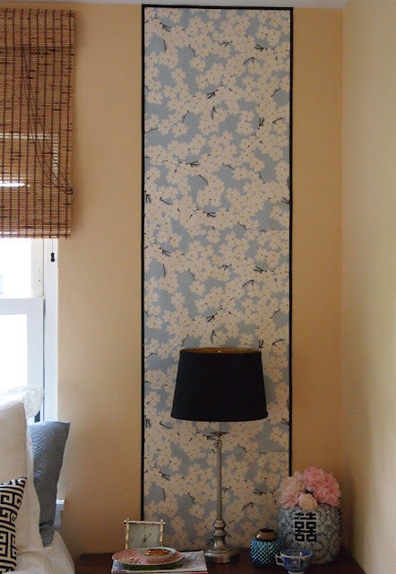 Chinoiserie Wallpaper Panels eclectic bedroom