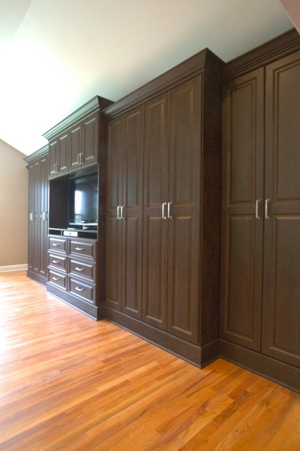 chocolate pear built in media center traditional bedroom new