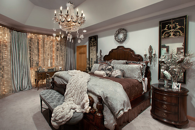Christmas Decor For Bedroom : Christmas Decor Mediterranean Bedroom Chicago  By