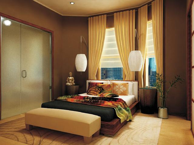 City Zen Space asian-bedroom