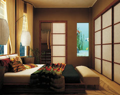 City Zen Space asian-bedroom