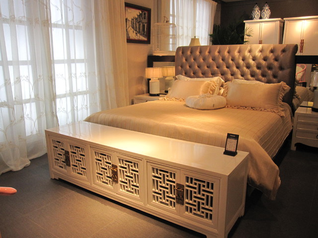 Classic Chinese Style In White Asian Bedroom Hong