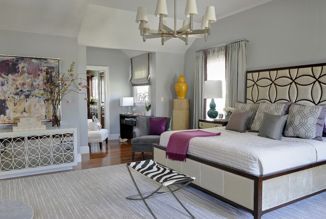 Classic Contemporary Master Suite - Transitional - Bedroom - Miami ...