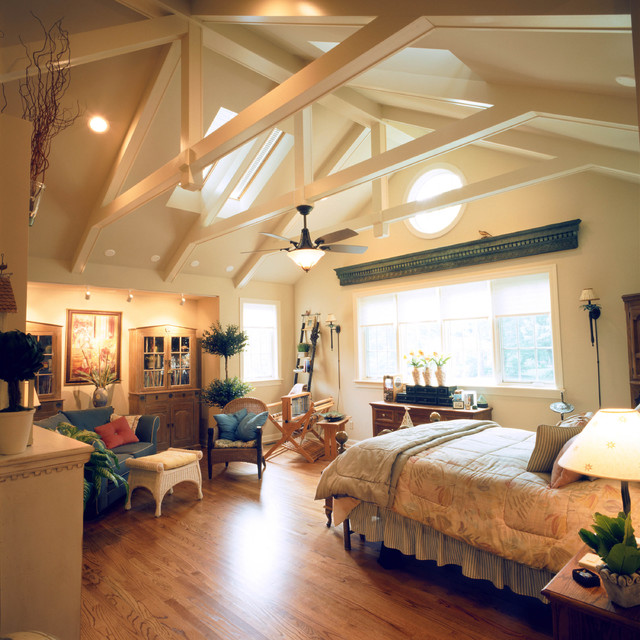 Classic Home With Vaulted Ceilings Traditional Bedroom St