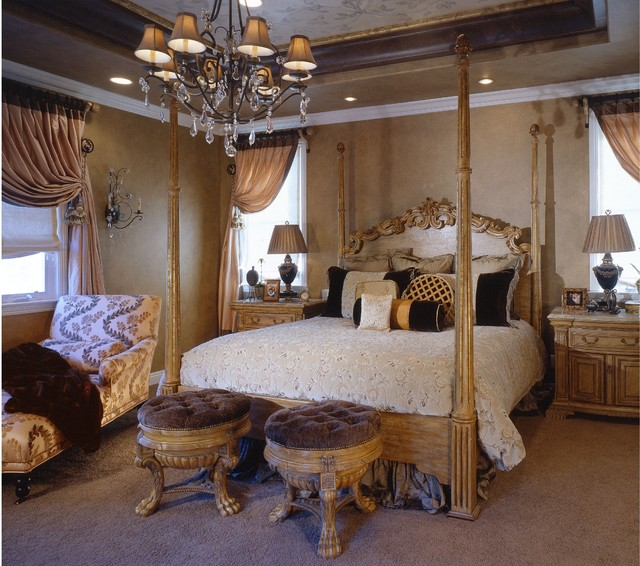 Classic luxury master bedroom suite traditional bedroom