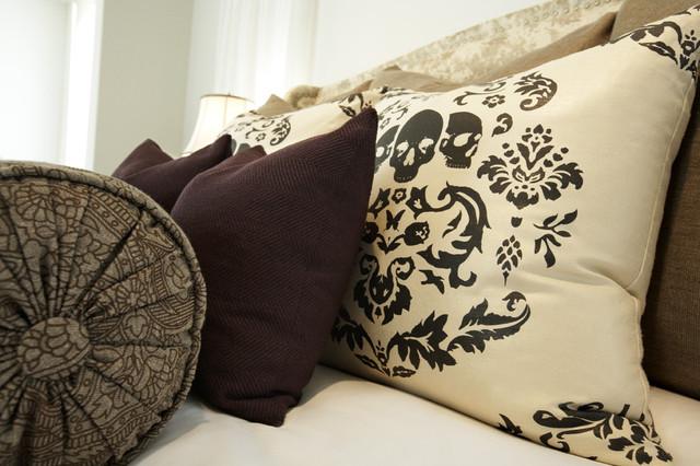 Clean Eclectic Custom Bedding contemporary-bedroom