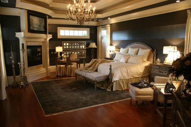Client pergola luxury master suite traditional bedroom atlanta by bella cosa home Traditional rustic master bedroom