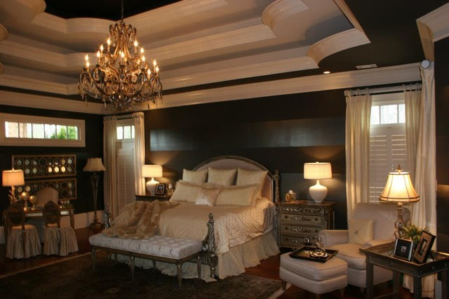 Client pergola luxury master suite traditional bedroom for Home design 9358