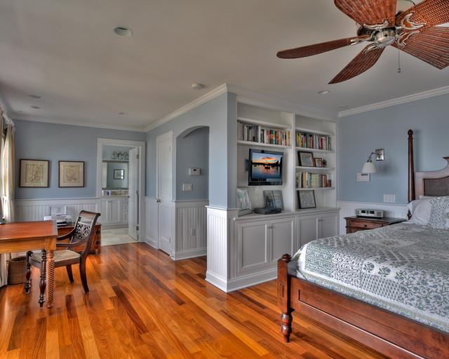 Clinton Beach House beach-style-bedroom