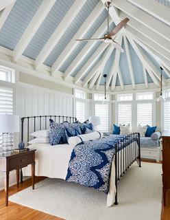coastal calm - beach style - bedroom - raleigh -