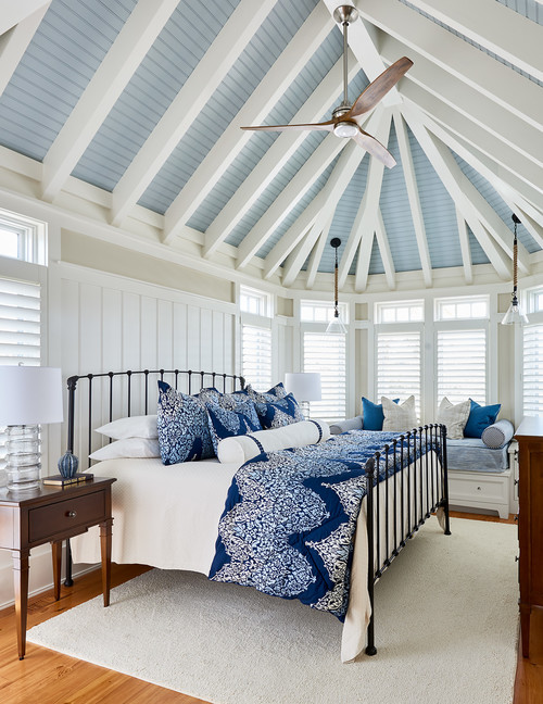beautiful vaulted ceiling gives a sense of space