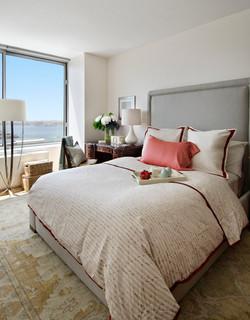 Coastal Classic Master Bedroom - Traditional - Bedroom - miami - by Frances Herrera Interior Design
