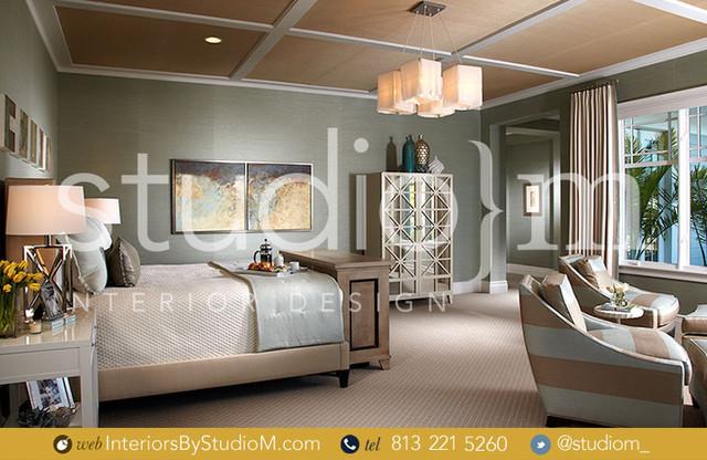 Coastal Couture tropical-bedroom