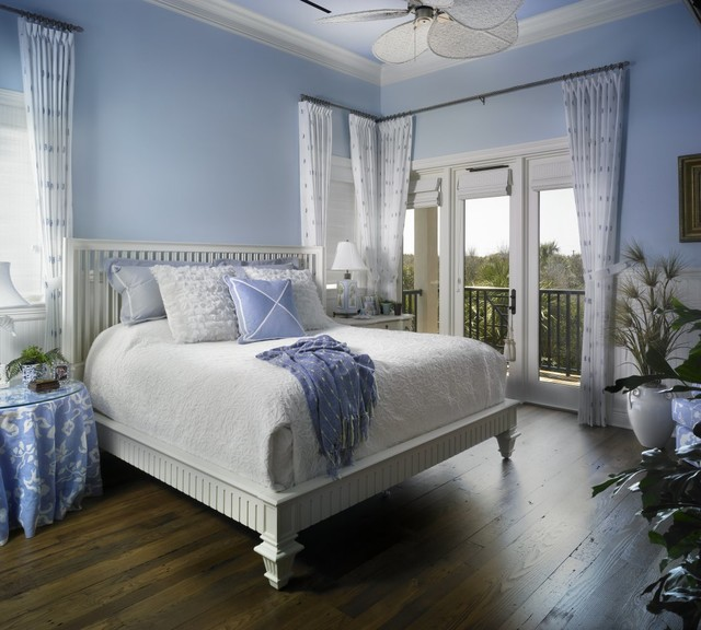Coastal elegance beach style bedroom other metro for Bed styles images