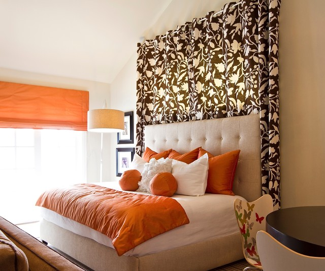 Coastal interiors contemporary bedroom orange county for Interior design window behind bed