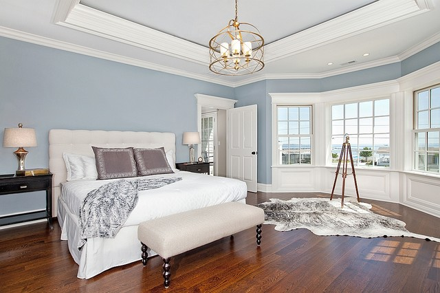 Coastal living in fairfield county beach style bedroom