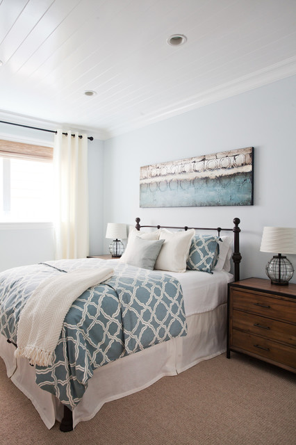 coastal luxe beach style bedroom orange county by