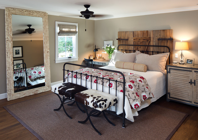 Coastal ranch farmhouse bedroom san diego by anne for Farmhouse style bed