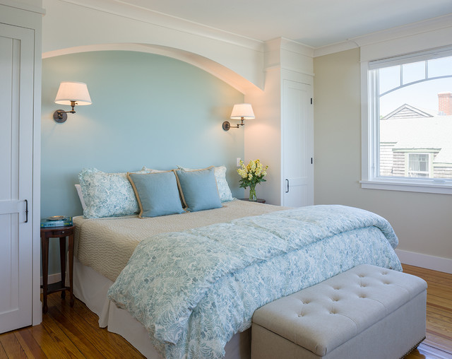 Coastal Victorian Renovation Beach Style Bedroom