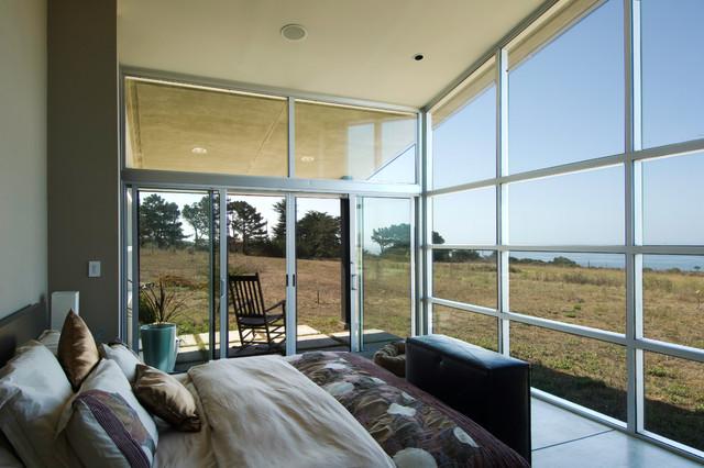 Coastside view home contemporary-bedroom