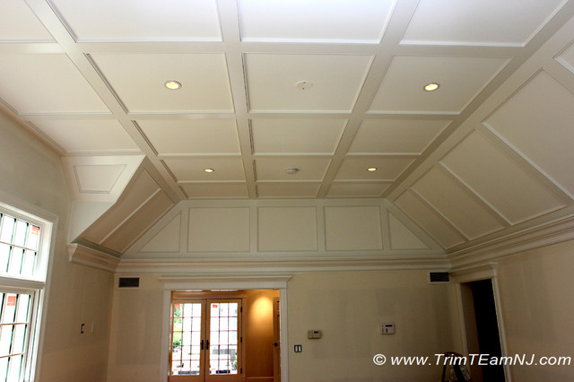 Coffered Ceilings And Beams Traditional Bedroom New