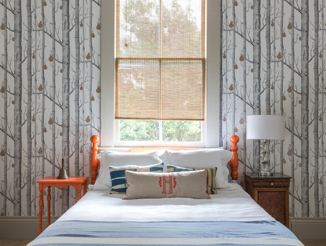 Cole U0026 Son Pear Forest Wallpaper Bedroom Transitional Bedroom