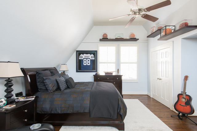 College Student Bedroomtransitional Bedroom Dallas