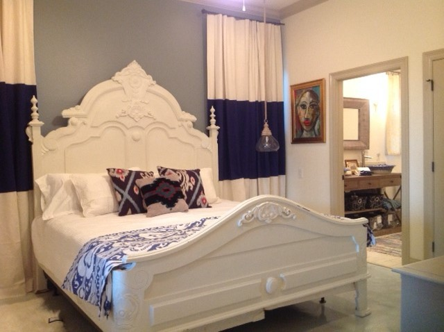 color block drapes eclectic bedroom other by martha and ash