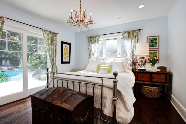 Colorful Cottage Transitional Bedroom Los Angeles