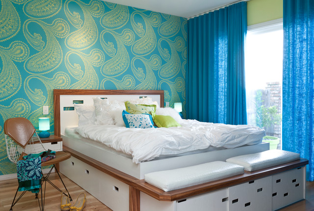 Colorful Mid Century Modern Residence Transitional Bedroom Best Color Design For Bedroom