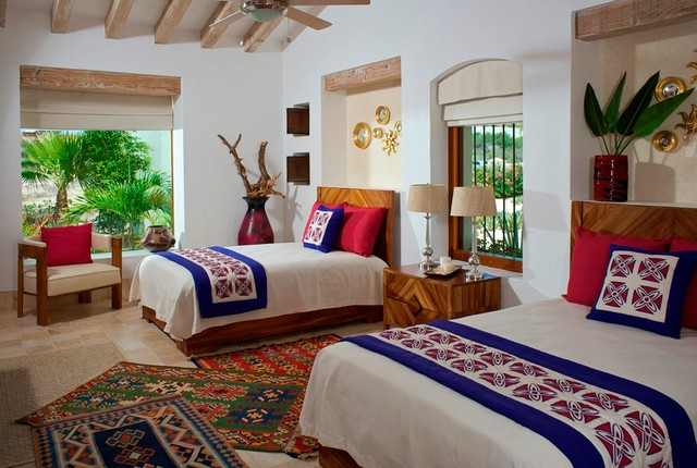 COLORFUL MODERN MEXICAN eclectic bedroom. COLORFUL MODERN MEXICAN
