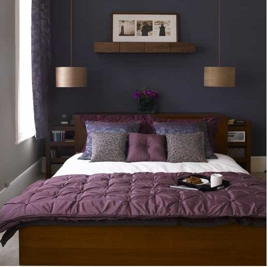 colors, lighting, small space eclectic-bedroom