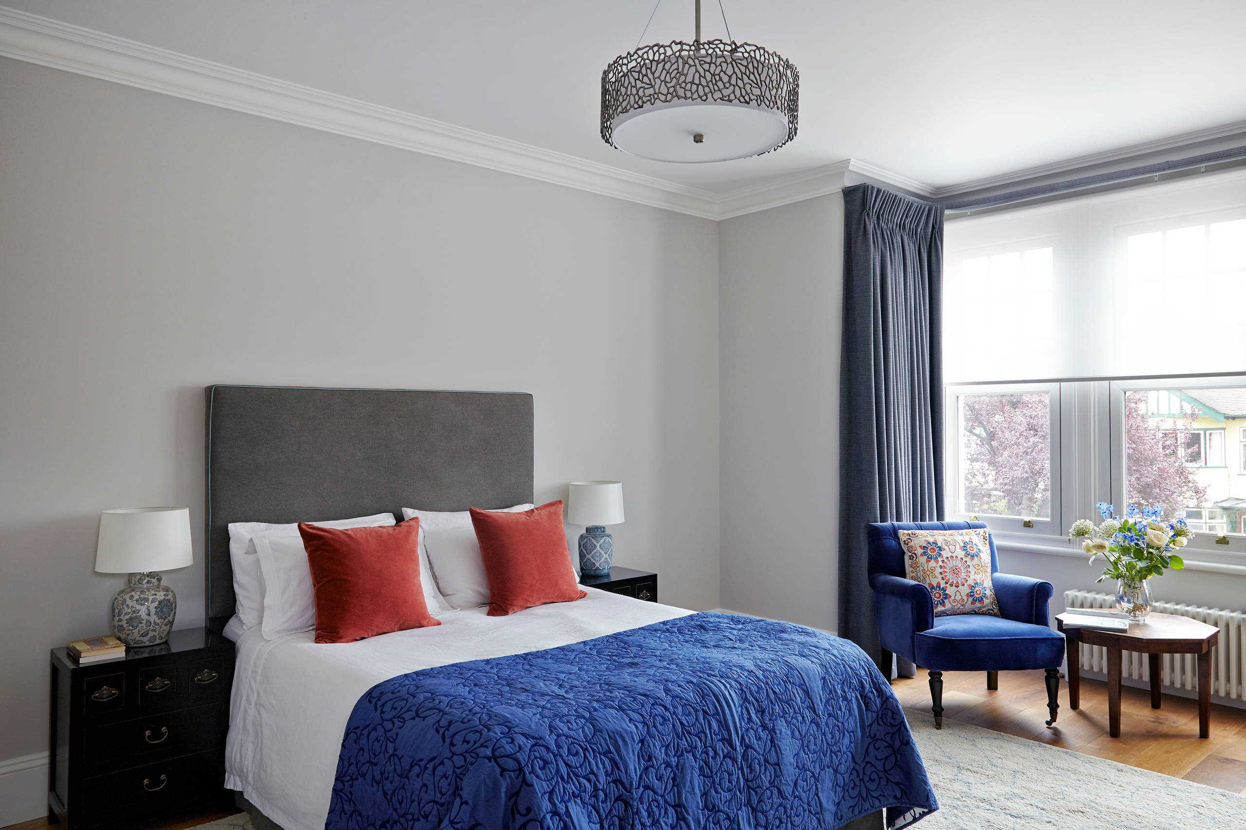 Blue Grey Walls Bedroom Ideas And Photos Houzz