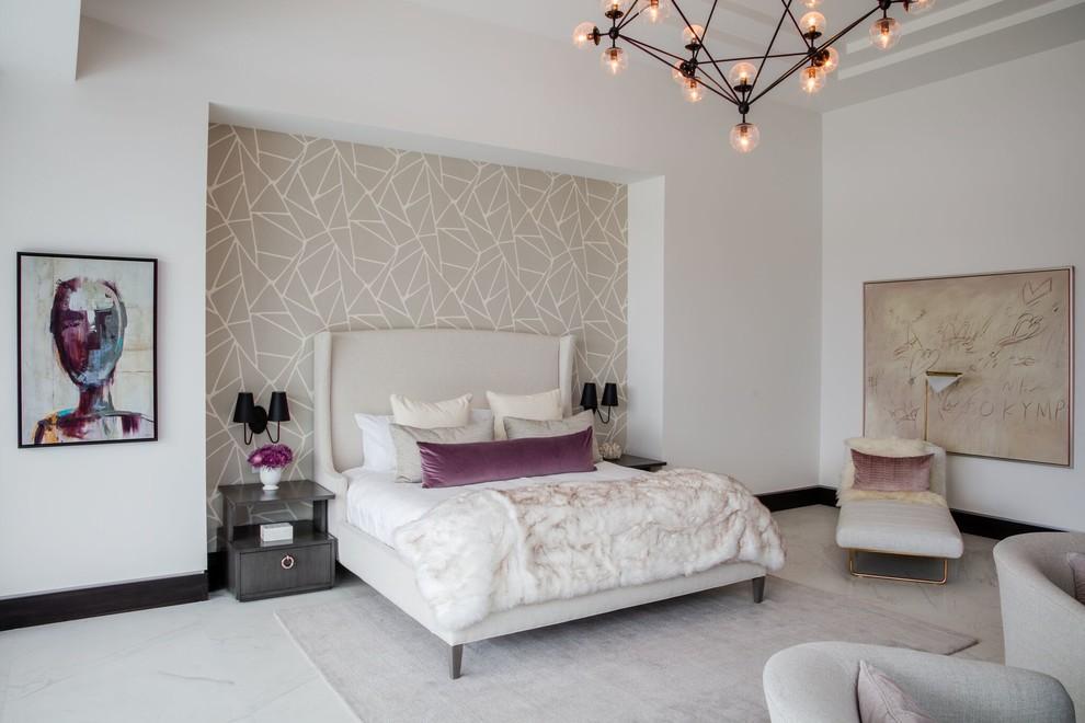 Idee per una grande camera da letto minimal