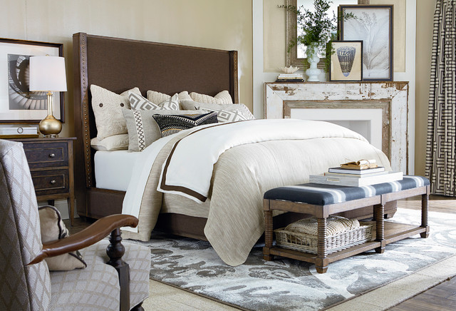 Compass Upholstered By Bassett Furniture Contemporary Bedroom By Bassett Furniture
