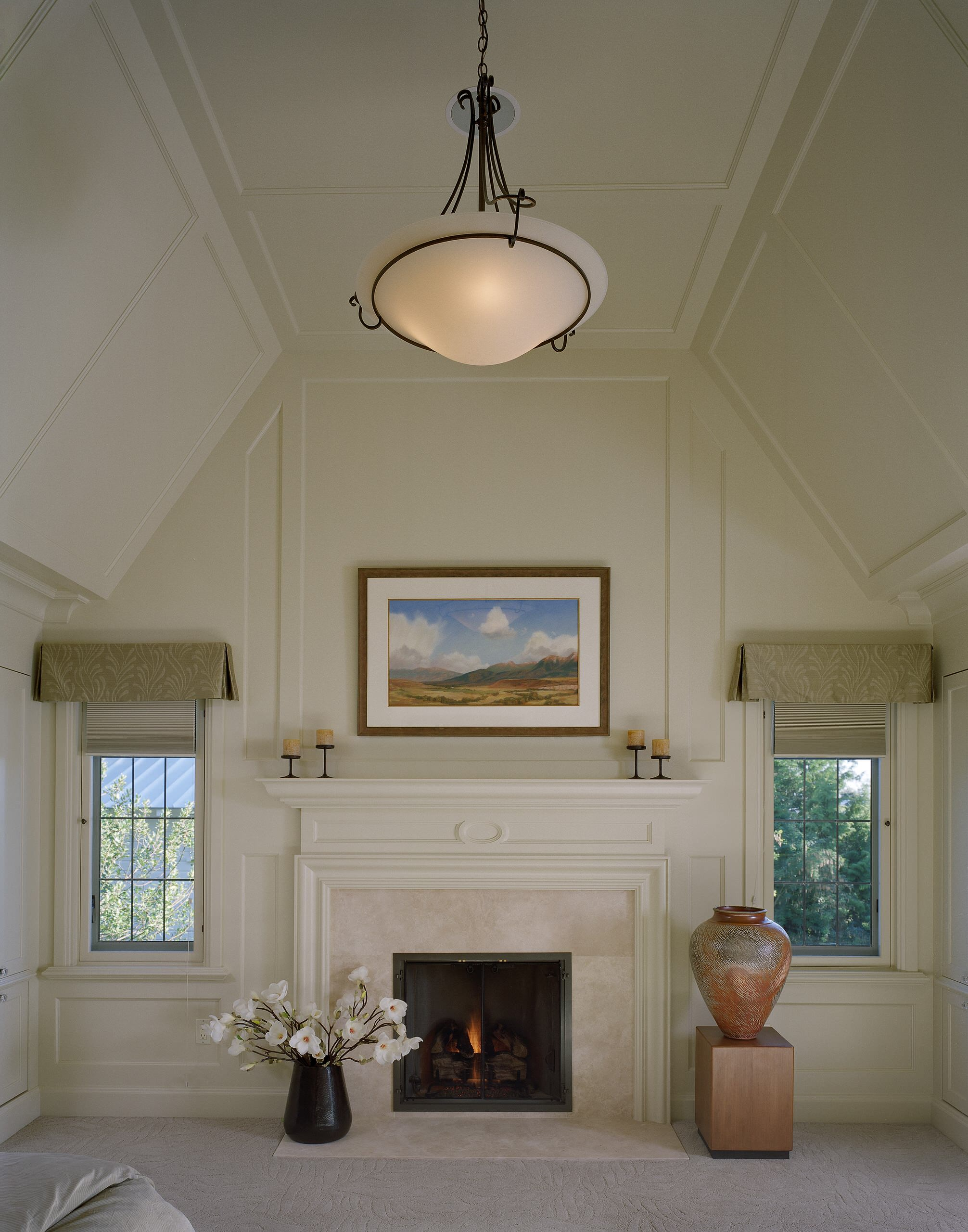 Fireplace Vaulted Ceiling Houzz