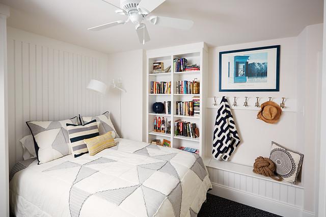 Condo in white contemporary bedroom philadelphia for Decoration 02100