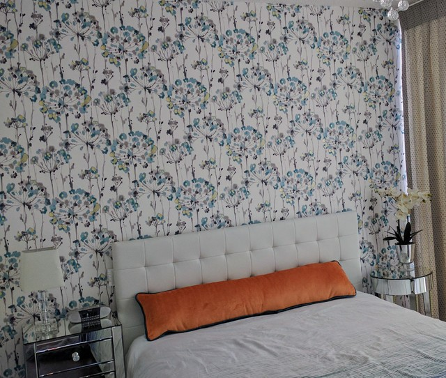 Example of a small trendy master bedroom design in Toronto
