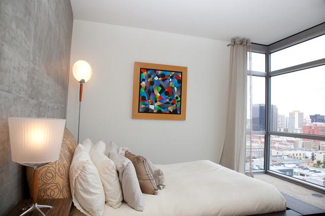 Condo spaces contemporary-bedroom