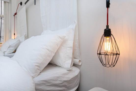 Charming Conifer Endustriyel Aydinlatma Industrial Bedroom