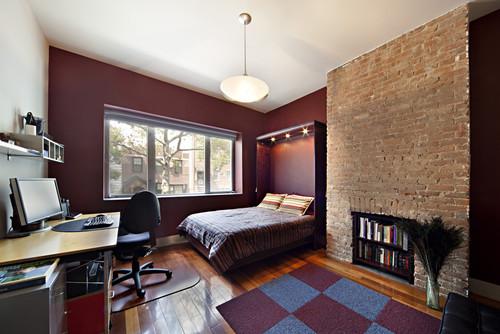 Conselyea - guest room murphy bed down modern bedroom