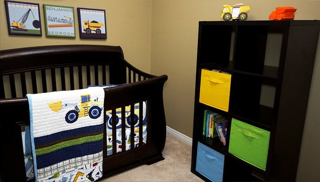 Construction themed children 39 s bedroom for Construction themed bedroom ideas