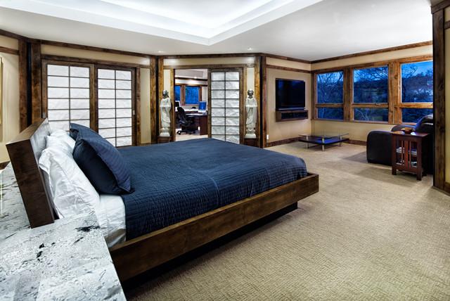 Contemporary Asian Hideaway contemporary-bedroom