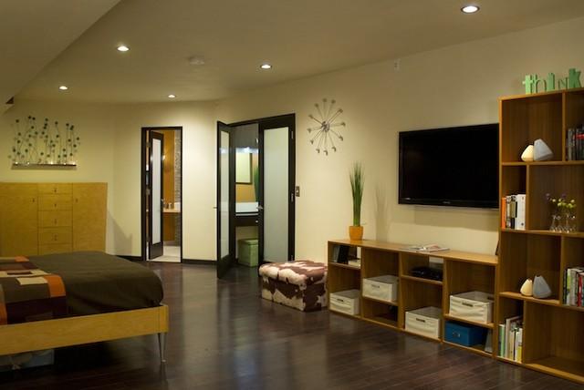 Contemporary Basement Finish contemporary-bedroom
