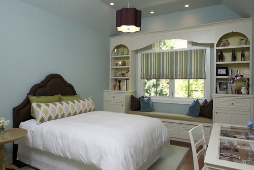 contemporary bedroom Color of the Month: Decorating with Light Blue
