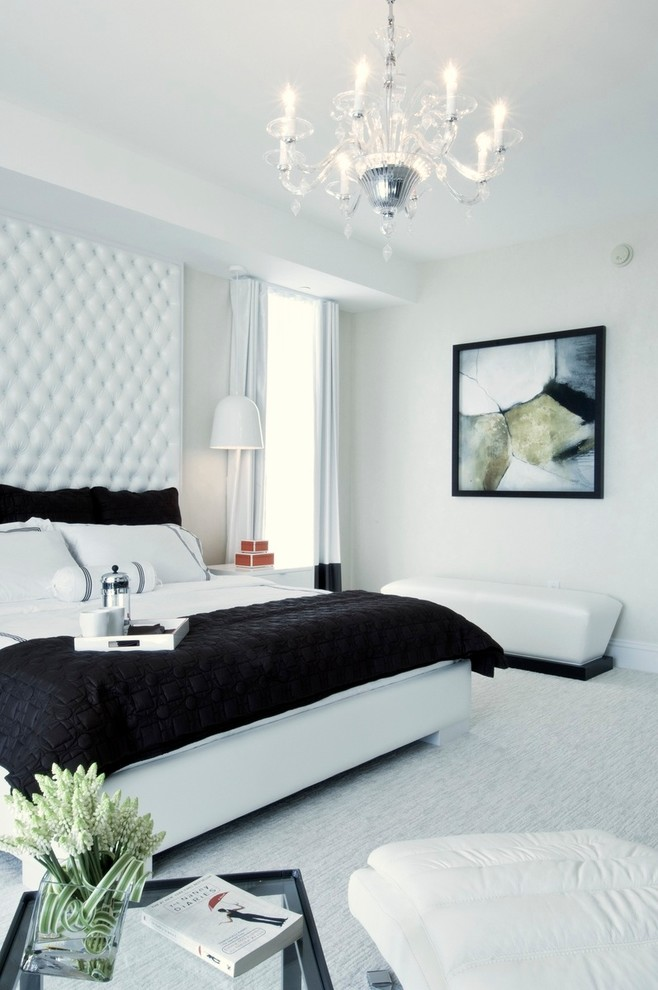 Inspiration for a contemporary bedroom remodel in Miami