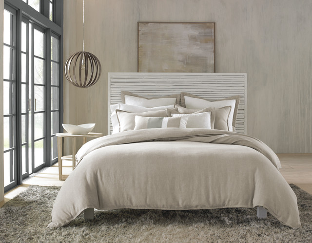 Hotel Collection Linen Natural Bedding Collection - Contemporary - Bedroom - new york - by Hotel ...